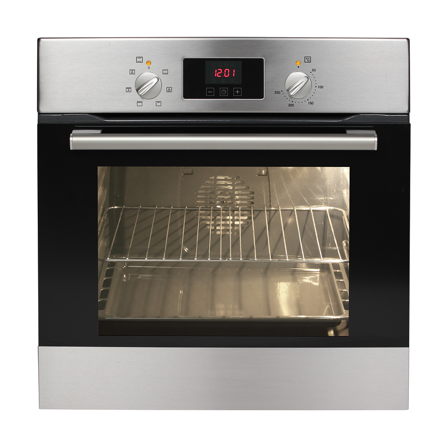 Electric oven isolated on white background.